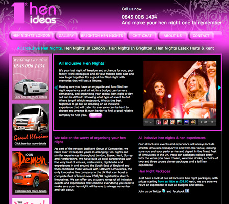 Hen Night Web Design Artwork