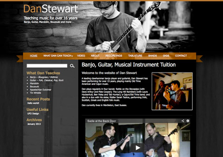 Website Artwork - Musician Dan Stewart