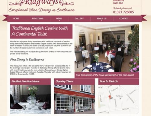 Website for local restaurant in Eastbourne