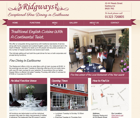 Restaurant Web Design Artwork