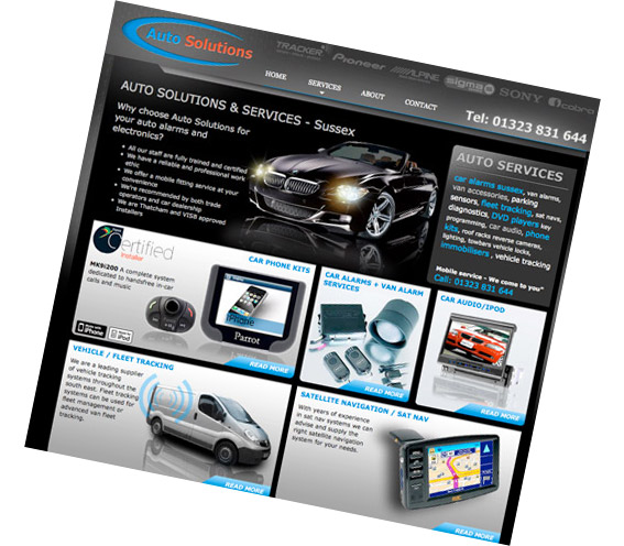 Website graphic auto solutions