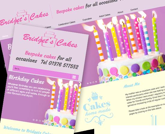 Cake web design