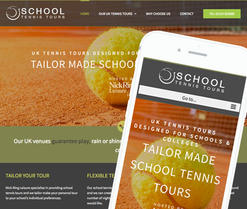 School Tennis Tours Design